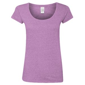 Ladies Twisted Slub Jersey Scoopneck T-Shirt Thumbnail