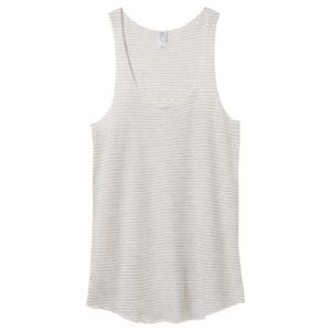 Women's Meegs Eco-Jersey Ugly Stripe Racer Tank Thumbnail
