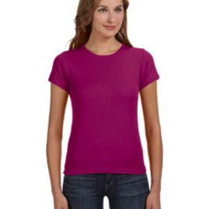 Ladies' 1x1 Baby Rib Scoop T-Shirt Thumbnail