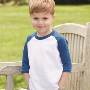 Toddler Three-Quarter Sleeve Baseball Jersey Thumbnail