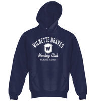 Adult Boys Navy Pullover Hoodie - Adult 8 oz. NuBlend® Fleece Pullover Hood Thumbnail