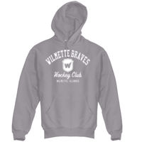 Adult Boys Gray Pullover Hoodie - Adult 8 oz. NuBlend® Fleece Pullover Hood Thumbnail