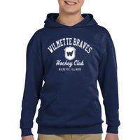 Youth Boys Navy Pullover Hoodie Thumbnail