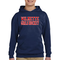 Youth Girls Navy Pullover Hoodie Thumbnail